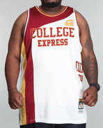 Men College Express Jersey (B&T) White Xx-Large