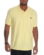 Men S/S Basic Pique Polo Yellow Large