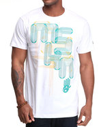 Men Laser Graphic Tee White Medium