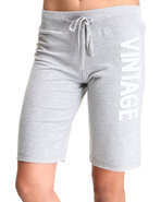 Women Vintage Active Bottoms Grey Medium