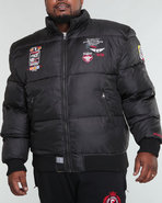 Men Down Bomber Jacket (B&T) Black 4X-Large
