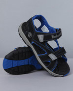 Boys Mad River 2 Strap Velcro Sandal (Td) Black 4