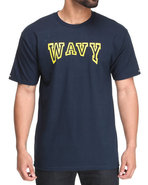 Men Wavy Tee Navy 3X-Large