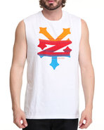 Men Cracker Sysmic Tank White Medium