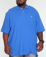Men Embroidery Shear Polo (B&T) Blue 3X