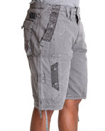 Men Quick Wit Cargo Shorts Grey 36