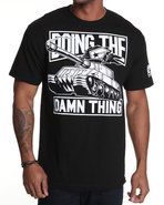 Men Doing The Damn Thing Tee Black X-Large
