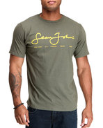 Men S J Script Logo S/S Tee Olive Xx-Large