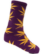 Huf Men Plantlife Crew Socks Purple