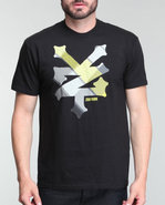 Men Cracker Plaid Tee Black Small