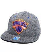 Men New York Knicks Flat Brim Tweed Snapback Hat G