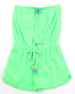 Girls Neon Romper (7-16) Lime Green 7/8 (S)