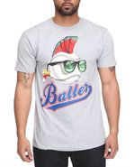 Drj Underground Men Baller Tee Grey Large