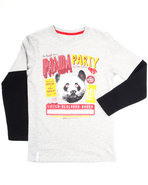 Lrg Boys Panda Lettuce Slider (8-20) Light Grey 14