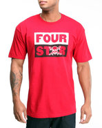 Men Pirate Stacked Tee Red X-Large
