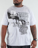 Men Brooklyn Tee (B+T) Grey 5X