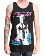 Men Business Before Pleasure Tank Black X-Large