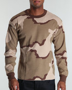 Drj Army/Navy Shop Men Thermal Knit Top Brown 4X-L