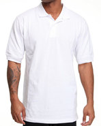Men Pique Solid Polo White X-Large
