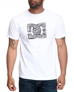 Dc Shoes Men Based Tee White Small