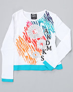 Girls L/S Emma Tee (4-6X) White 6X
