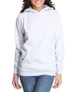 Women Fleece Hoodie Pullover Grey Medium
