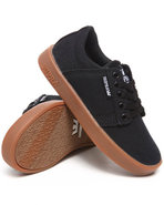Boys Westwood Black Canvas Gum Sole Sneakers Black