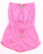 Girls Neon Romper (4-6X) Pink 6X (L)