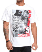 5Ive Jungle Men Montage Tee White Large