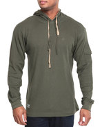 Men Takeover L/S Thermal Hoodie Olive X-Large