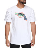 Men Cheater Pistol Tee White 3X-Large