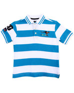 Coogi Boys Striped Polo (4-7) Blue 4
