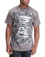 Tapout Men Tapout Punch Tee Grey Medium