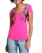 Women The Beauty Of Flight Printed Bust Tee Pink M