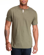 Men Thompson Y-Neck T-Shirt Olive Xx-Large