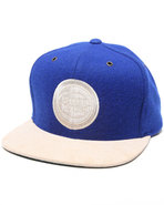 Men Detriot Pistons Nba Suede Strap Adjustable Cap