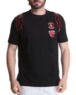 Men Double Patch Tee Black Large