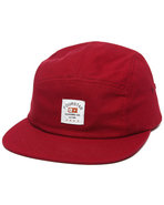 Men Trademark Label 5-Panel Cap Crimson