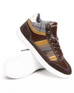 Men Hightop Sneaker Brown 9.5