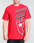 Men Side Car Tee Red Medium