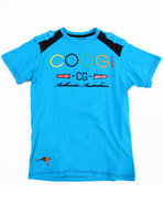 Coogi Boys Crew Neck Coogi Tee (8-20) Blue 18/20 (