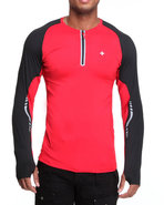 Men Bravara L / S Performance Top Red Medium