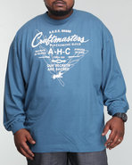 Akoo Men Craftmasters L/S Tee Blue X-Large
