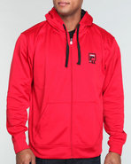 Men Gym Fleece Hoody Red X-Large