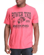 Men Power Boxing Tee Red Medium