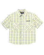 Boys Plaid Woven Shirt (4-7) Lime Green 6