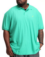 Men Solid Deck Polo Green 1X