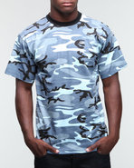 Drj Army/Navy Shop Men Sky Blue Camo Tee Blue Xx-L