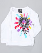 Girls Justina Raglan Tee (4-6X) White 4
