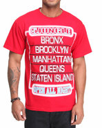 5Ive Jungle Men Neon Tee Red X-Large